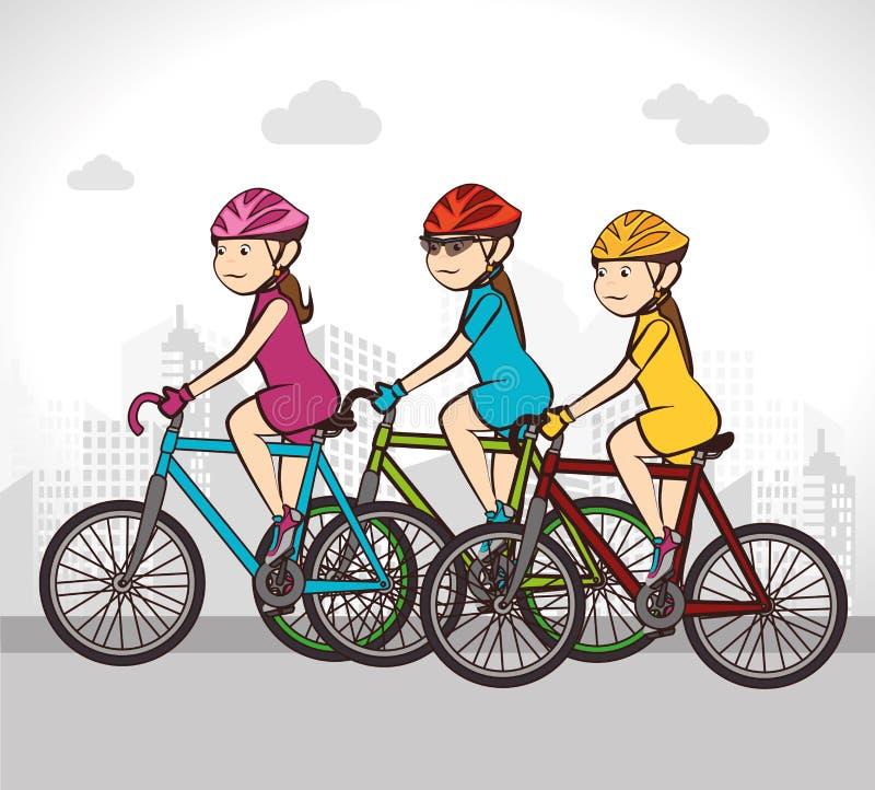Дизайн велосипеда иллюстрация вектора