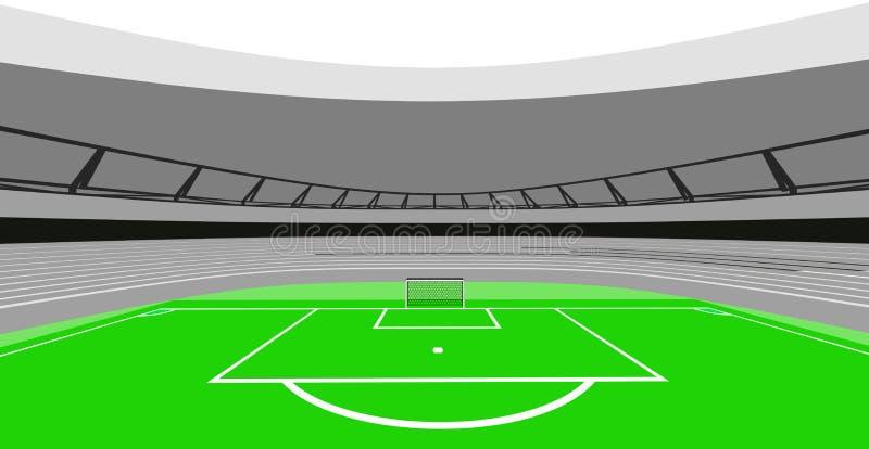 Дизайн взгляда центра птицы футбольного стадиона моего собственного вектора иллюстрация вектора