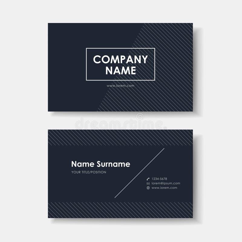 Дизайн визитной карточки вектора черное minimalistic бесплатная иллюстрация