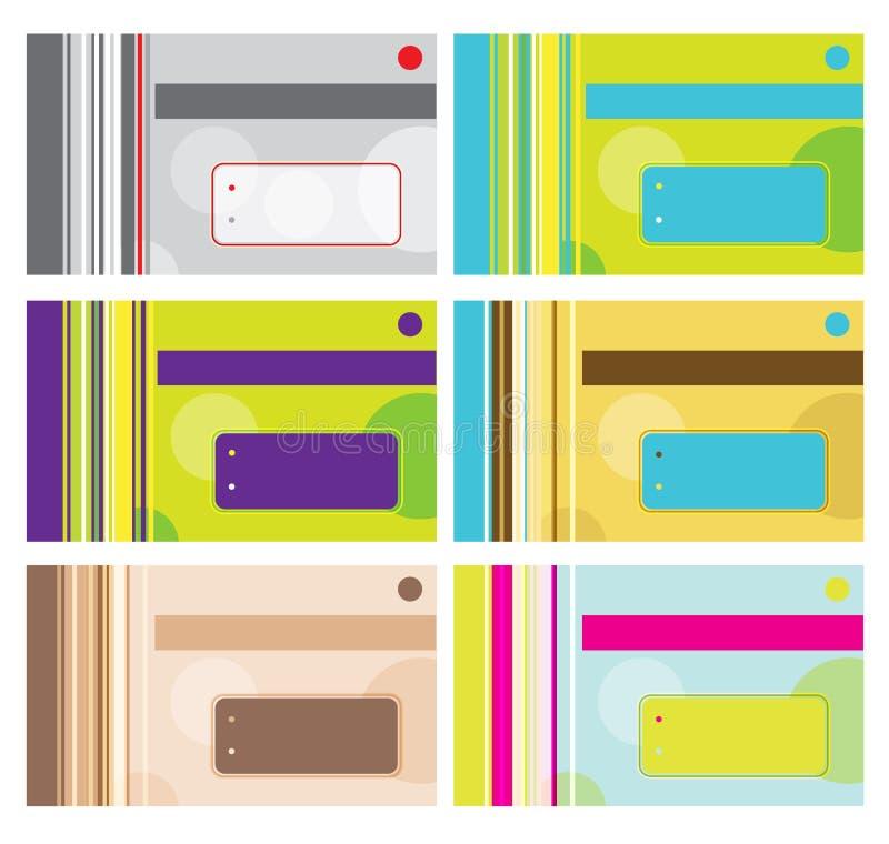Дизайн визитной карточки с местом для вашего текста иллюстрация штока