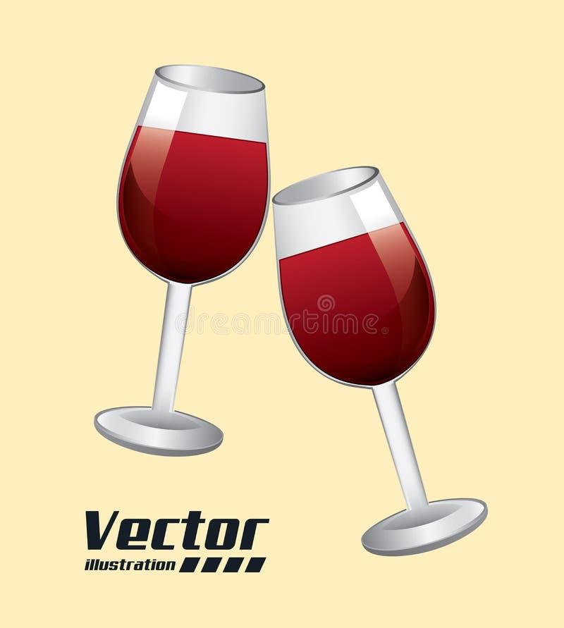 Дизайн вина бесплатная иллюстрация