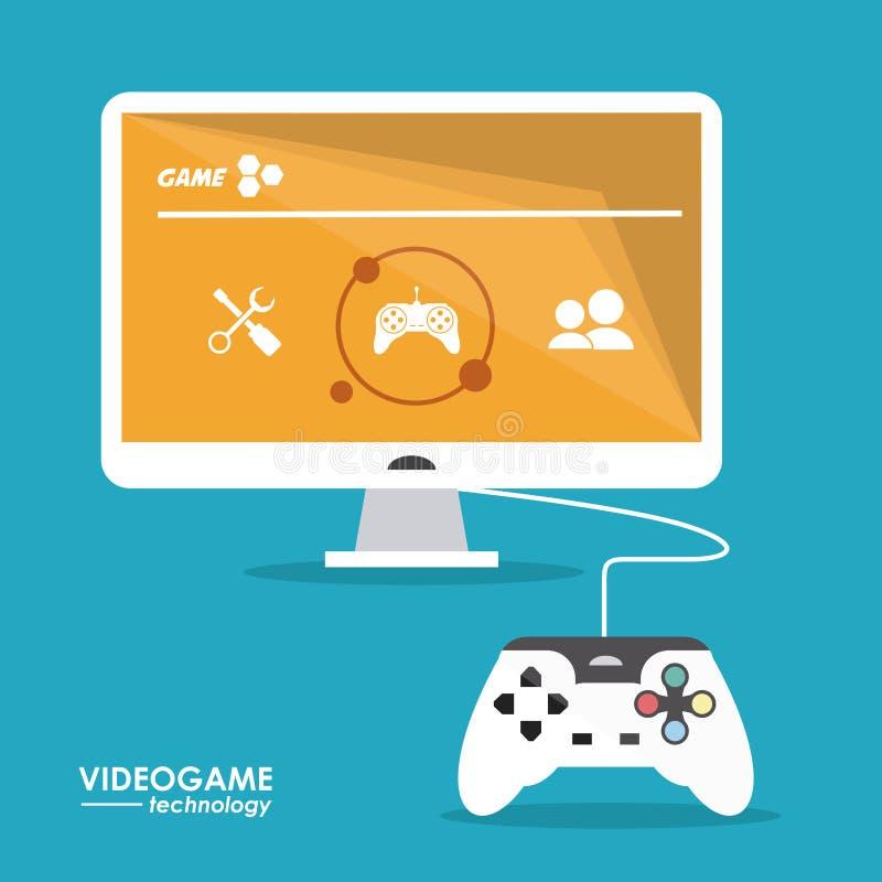 Дизайн видеоигры иллюстрация вектора