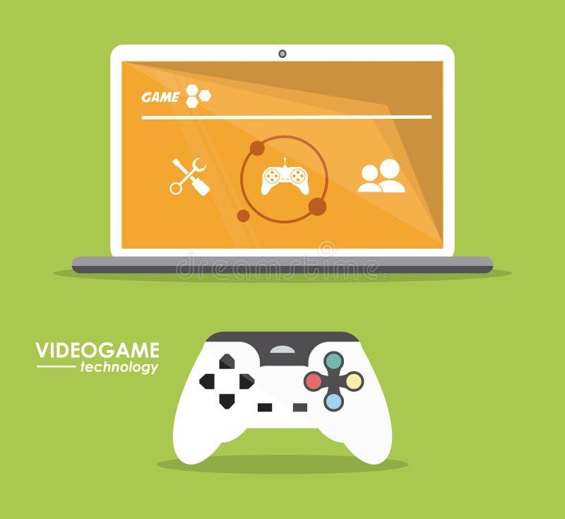 Дизайн видеоигры иллюстрация штока