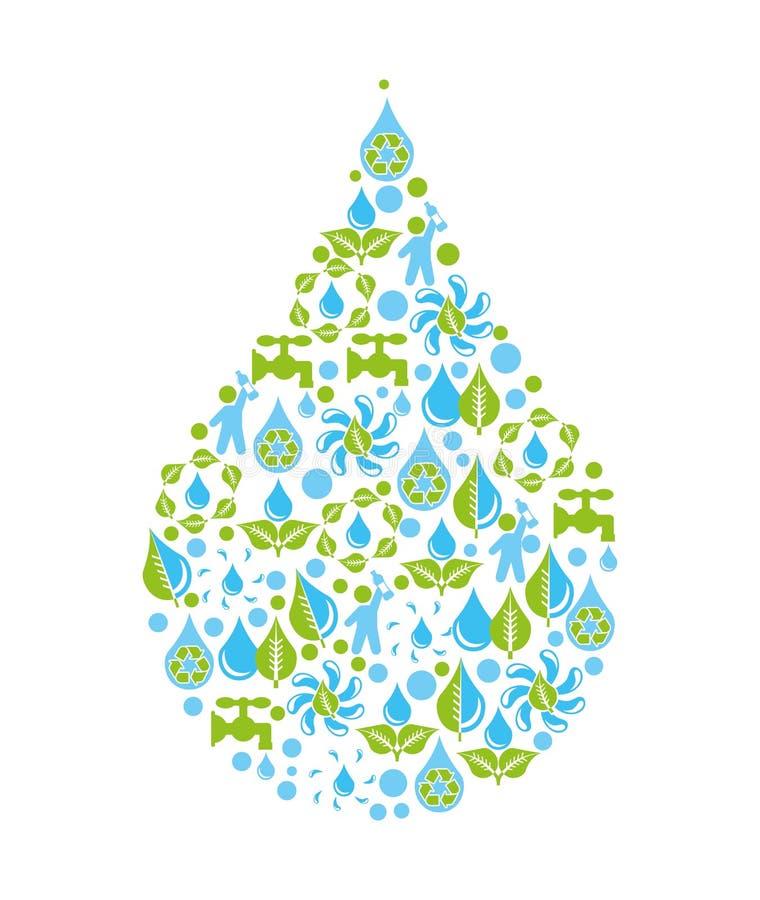 Дизайн воды иллюстрация вектора
