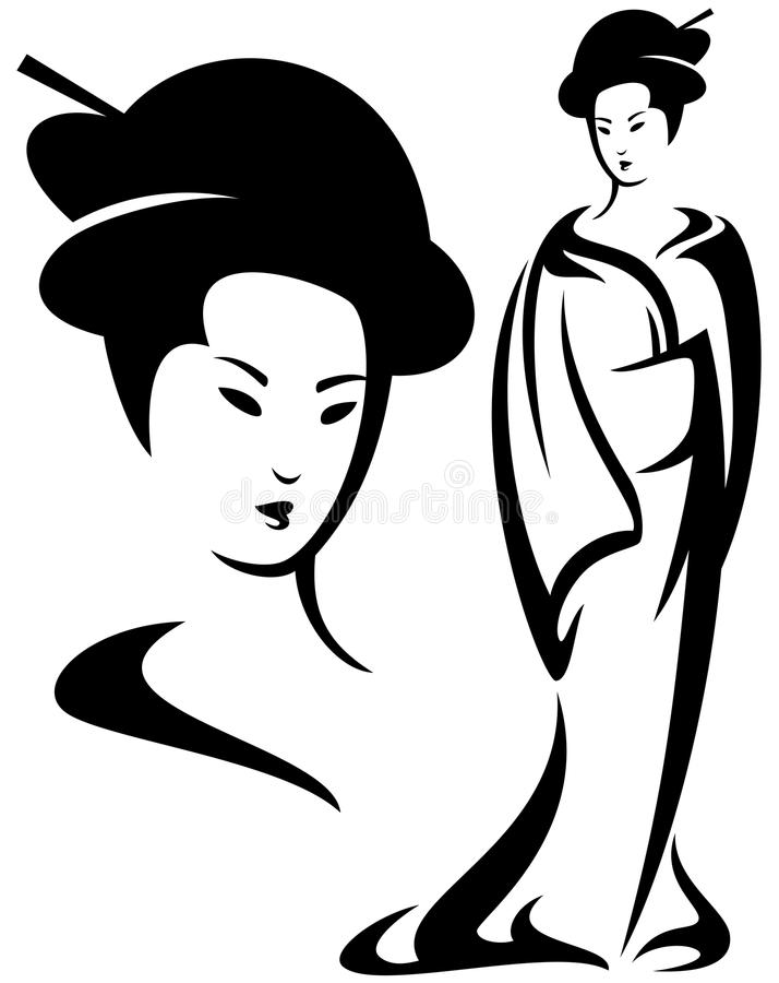 Дизайн гейши бесплатная иллюстрация