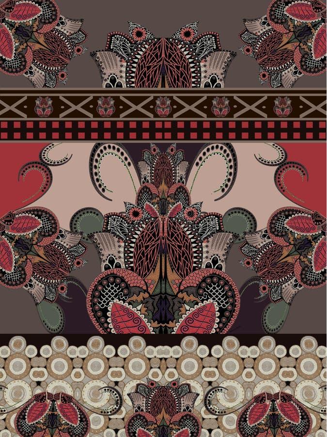 Дизайн геометрической текстуры boho цветов этнической современный стоковое изображение