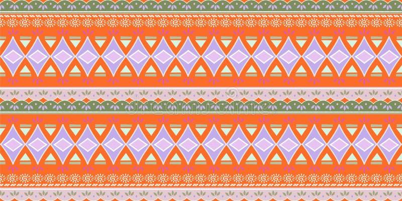 Дизайн геометрической этнической восточной безшовной картины традиционный для предпосылки, ковра, обоев, одежды, создавая програм иллюстрация штока