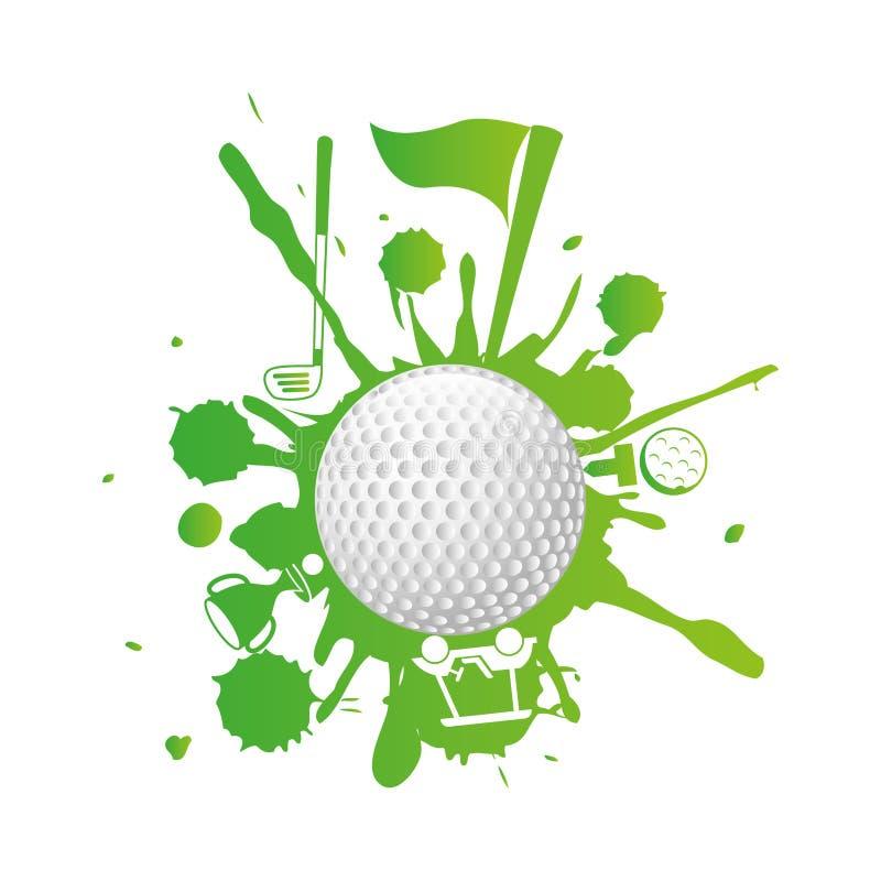 Дизайн гольфа бесплатная иллюстрация