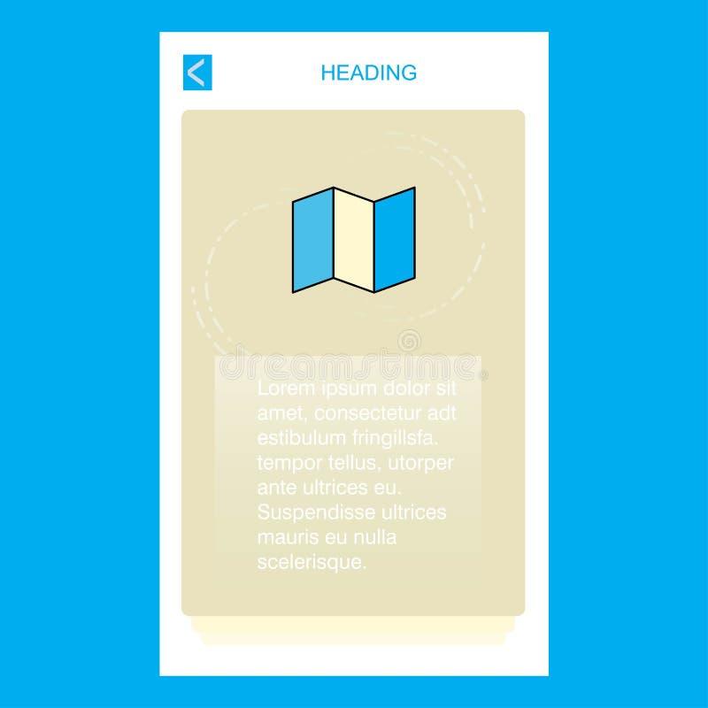 Дизайн дизайна знамени карты мобильный вертикальный вектор иллюстрация вектора