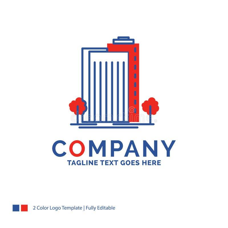 Дизайн для здания, зеленый цвет логотипа названия фирмы, завод, город, умный бесплатная иллюстрация
