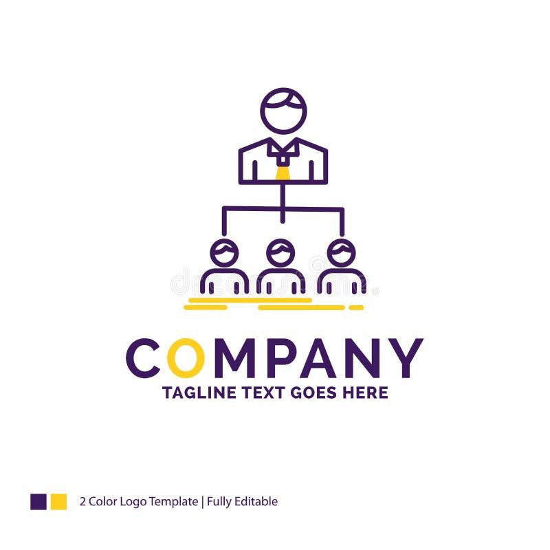 Дизайн для команды, сыгранность логотипа названия фирмы, организация, группа иллюстрация вектора