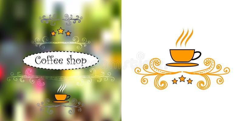 Дизайн для кофеен иллюстрация вектора