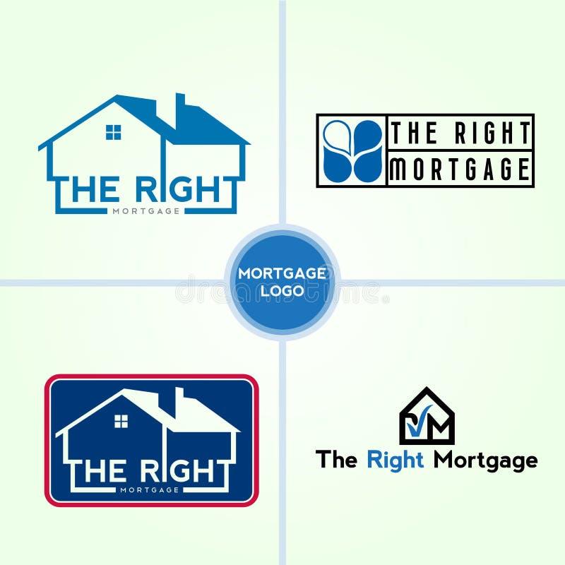 Дизайн для fundraising, деньги ссуды деловому предприятию, ипотека, сохраняет деньги, и другой логотип финансового менеджмента бесплатная иллюстрация