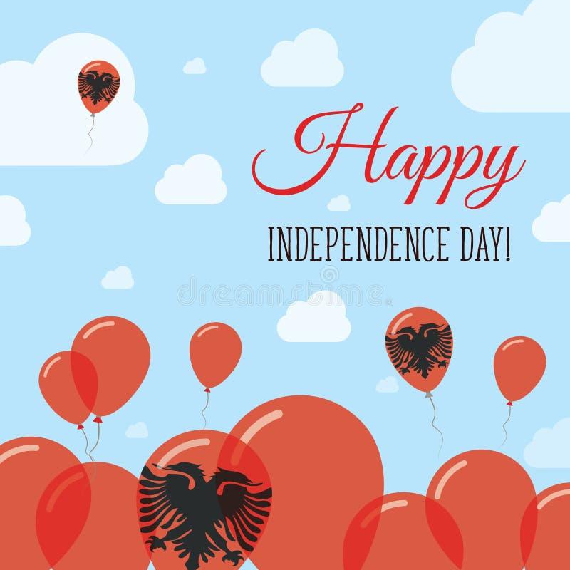 Дизайн Дня независимости Албании плоско патриотический бесплатная иллюстрация