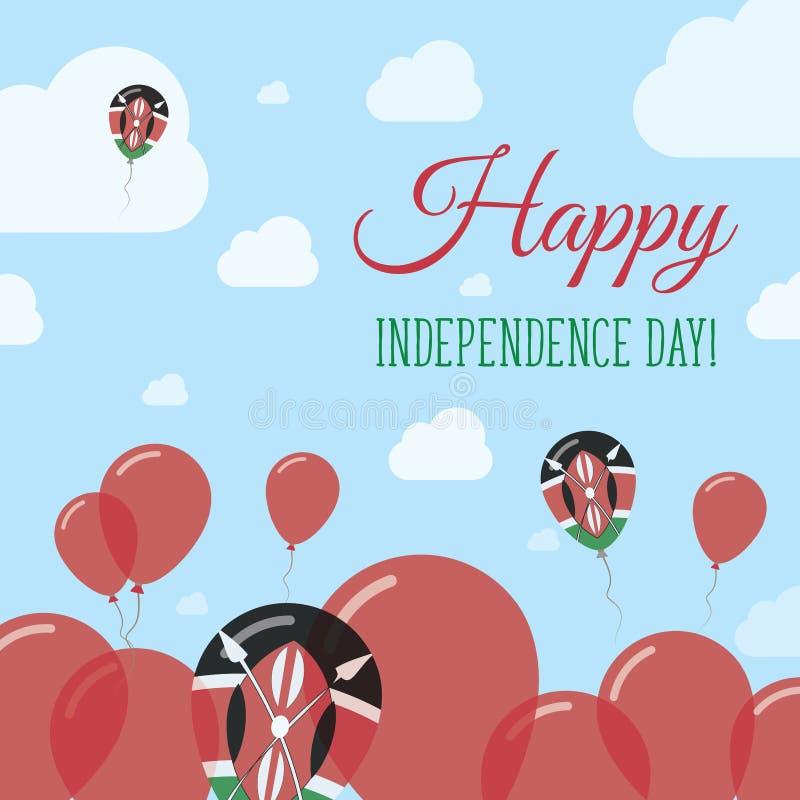 Дизайн Дня независимости Кении плоско патриотический иллюстрация штока