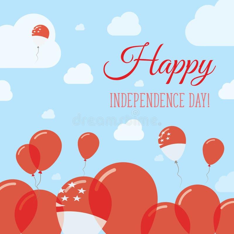Дизайн Дня независимости Сингапура плоско патриотический бесплатная иллюстрация