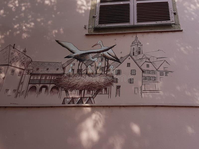 Дизайн домов Кольмара стоковое фото rf
