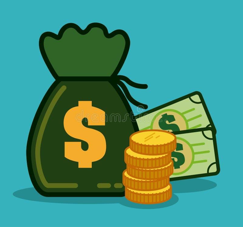Дизайн денег бесплатная иллюстрация