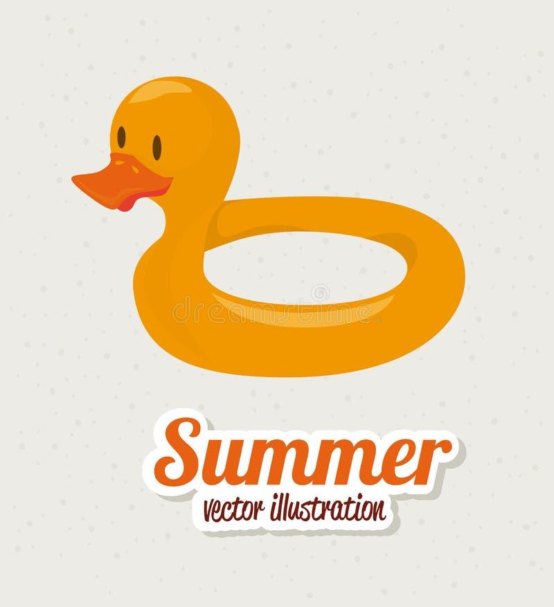 Дизайн лета иллюстрация вектора