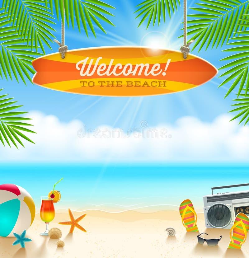 Дизайн летних отпусков бесплатная иллюстрация