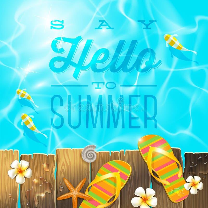 Дизайн летних отпусков иллюстрация штока