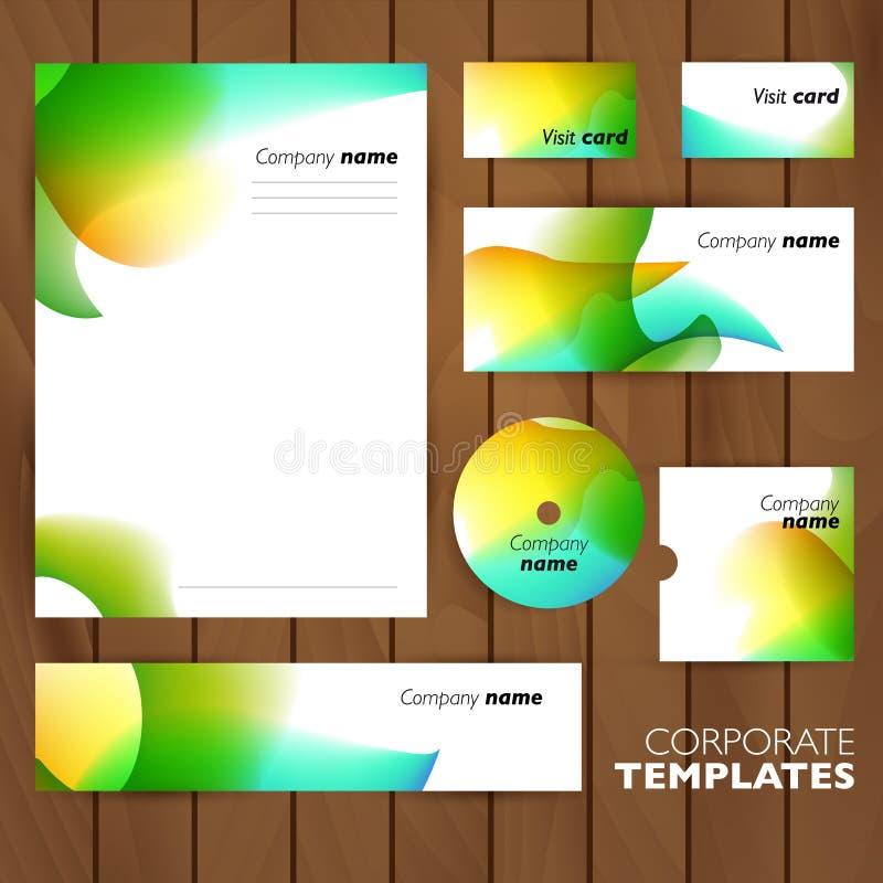 Дизайн дела фирменного стиля установленный Аннотация иллюстрация штока