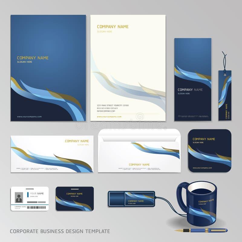 Дизайн дела фирменного стиля установленный. бесплатная иллюстрация