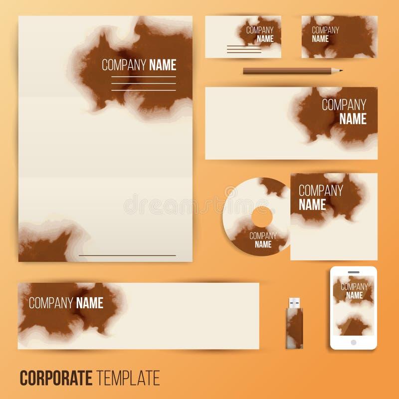 Дизайн дела фирменного стиля установленный бесплатная иллюстрация