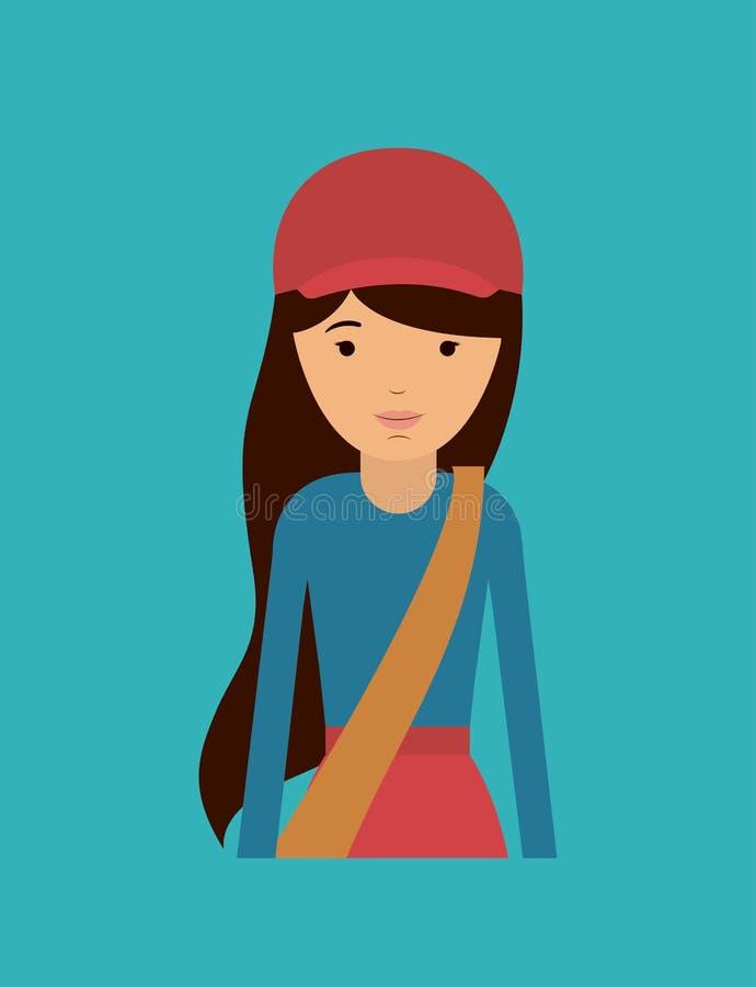 Дизайн женщины почты иллюстрация штока