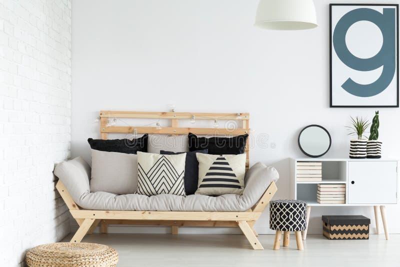 Дизайн живущей комнаты стоковые изображения