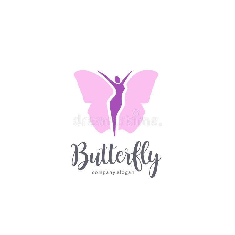 Дизайн журнала вектора Знак бабочки иллюстрация вектора