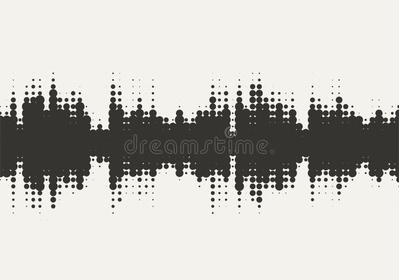 Дизайн звуковой войны полутонового изображения вектора иллюстрация вектора