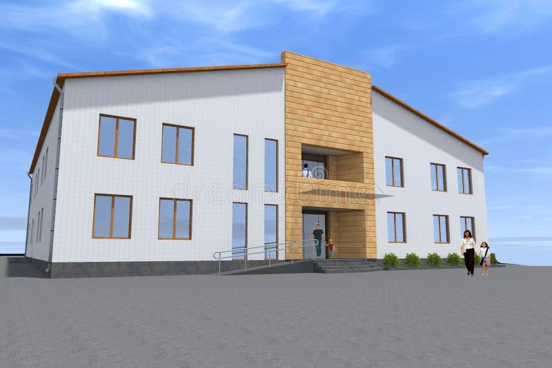 дизайн здания 3d представить иллюстрация штока