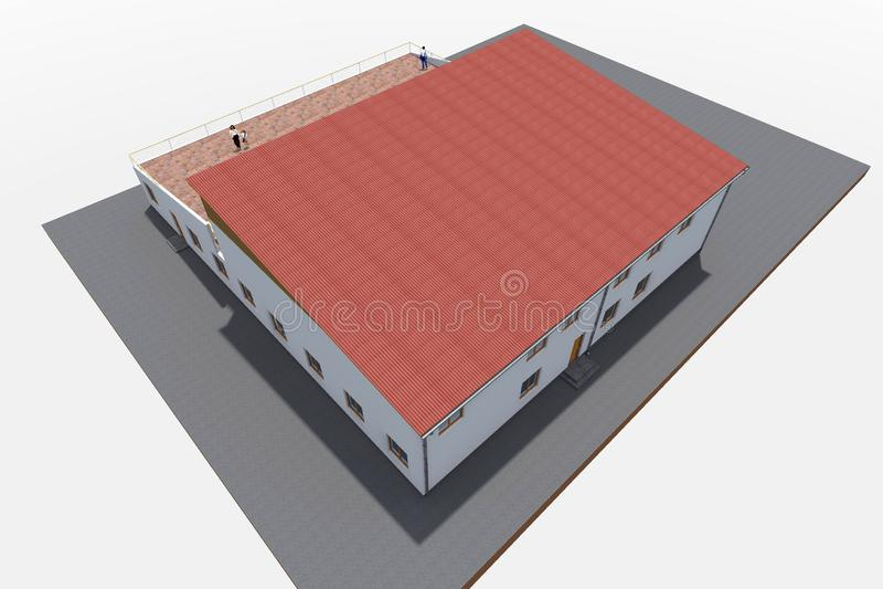дизайн здания 3d представить бесплатная иллюстрация