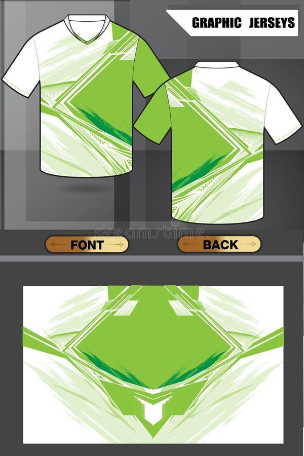 Дизайн зеленого цвета рубашек с вектором иллюстрации картины стоковые фото
