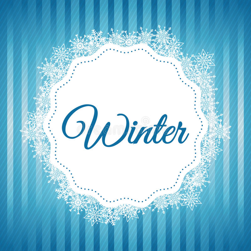Дизайн зимы background card congratulation invitation Плоская иллюстрация бесплатная иллюстрация