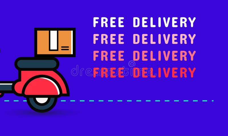 Дизайн знамени бесплатной доставки r иллюстрация штока
