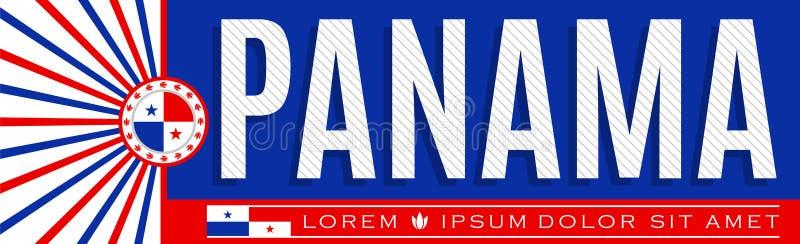Дизайн знамени Панамы патриотический, типографская иллюстрация вектора, цвета флага жителя Панамы иллюстрация штока