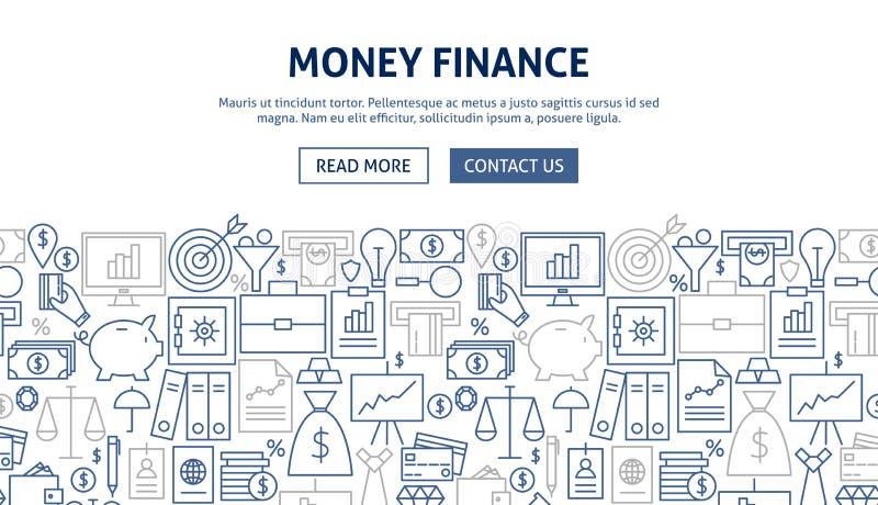 Дизайн знамени финансов денег иллюстрация вектора