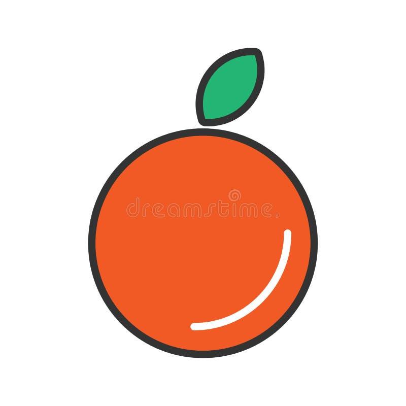 Дизайн значка апельсинов иллюстрация вектора