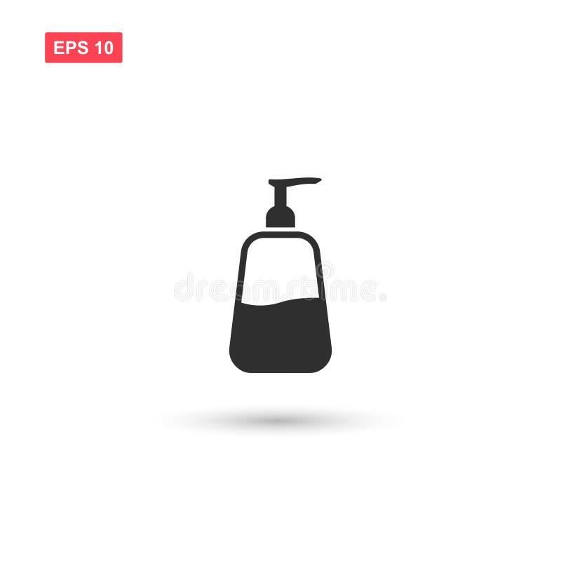 Дизайн значка вектора жидкостного мыла изолировал 3 иллюстрация штока