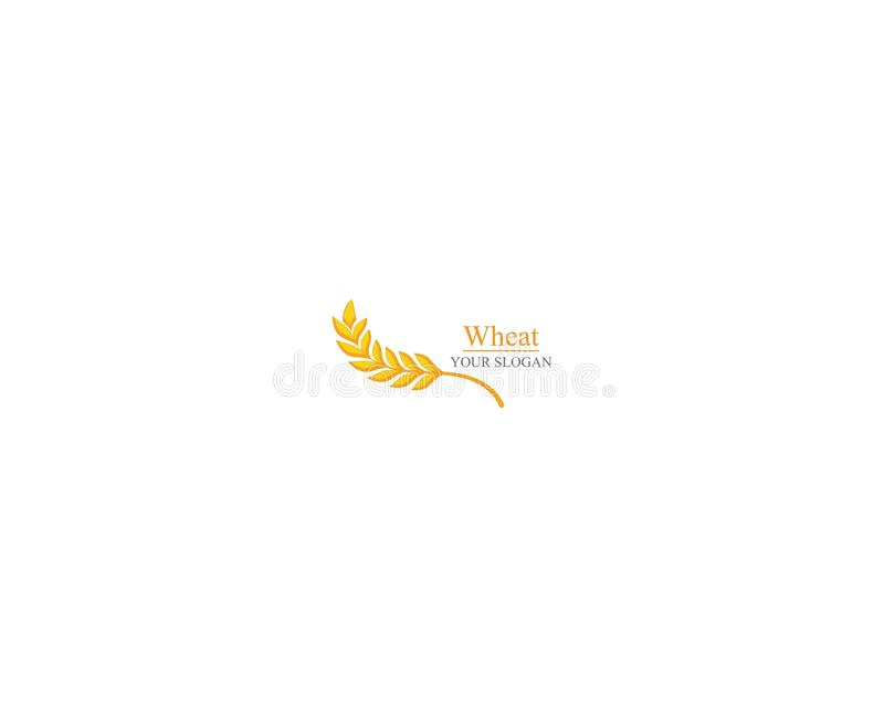 Дизайн значка вектора шаблона логотипа пшеницы земледелия иллюстрация штока