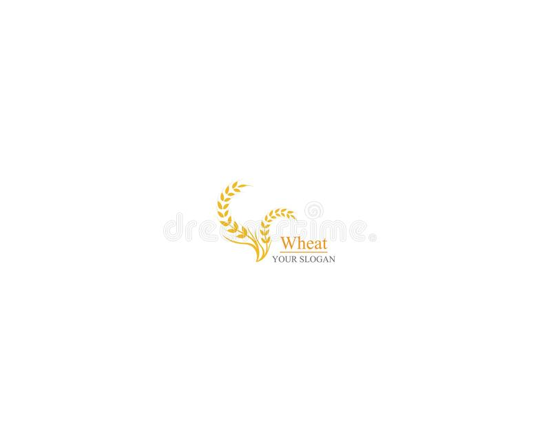 Дизайн значка вектора шаблона логотипа пшеницы земледелия иллюстрация вектора