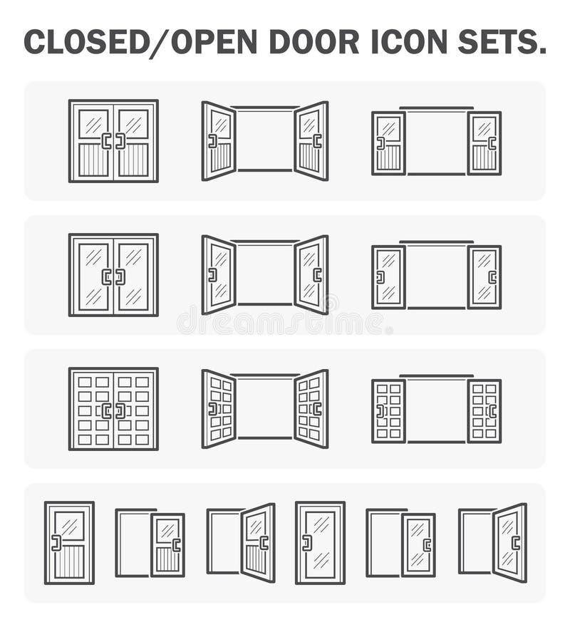 Дизайн значка двери бесплатная иллюстрация