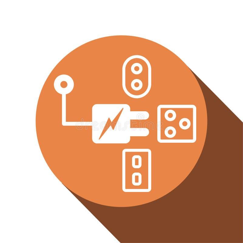 Дизайн значка в концепции штепсельной вилки преобразования для путешествовать r бесплатная иллюстрация