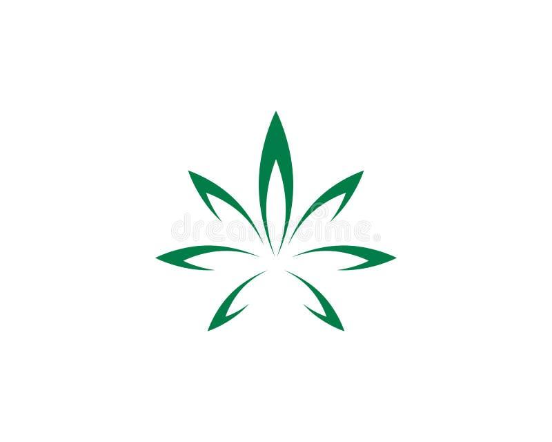 Дизайн значка иллюстрации вектора лист Canabis иллюстрация вектора