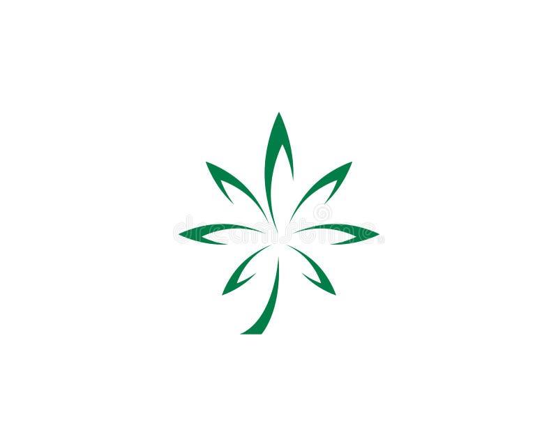 Дизайн значка иллюстрации лист Canabis иллюстрация штока