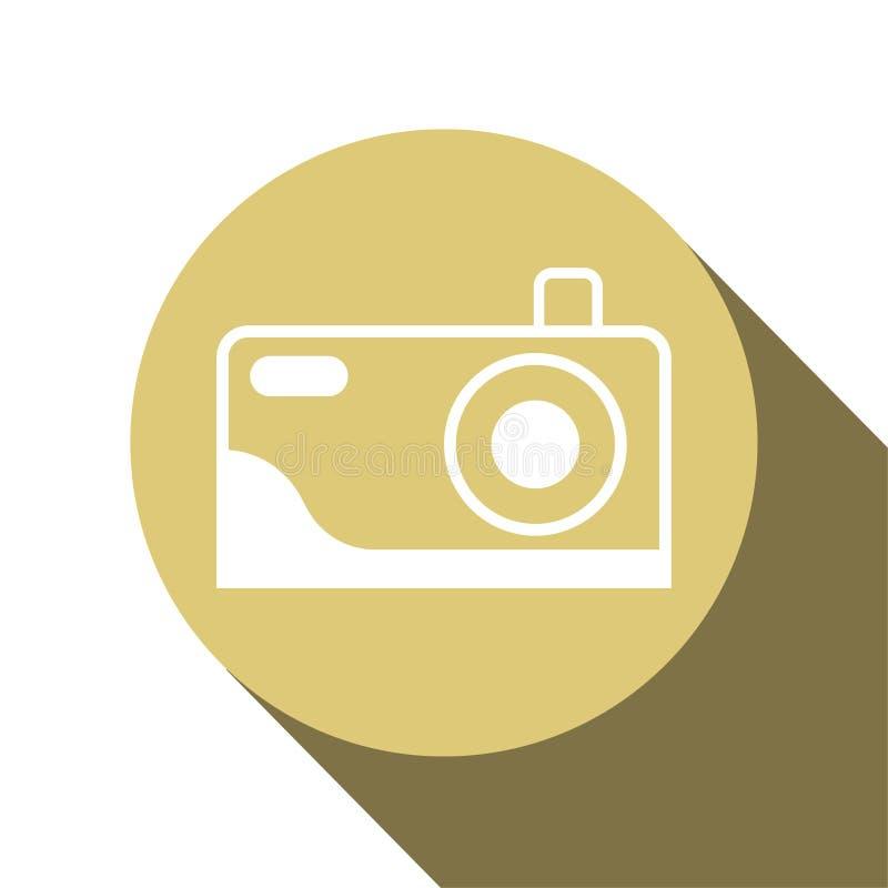 Дизайн значка камеры для показывать что место может сфотографировать r бесплатная иллюстрация