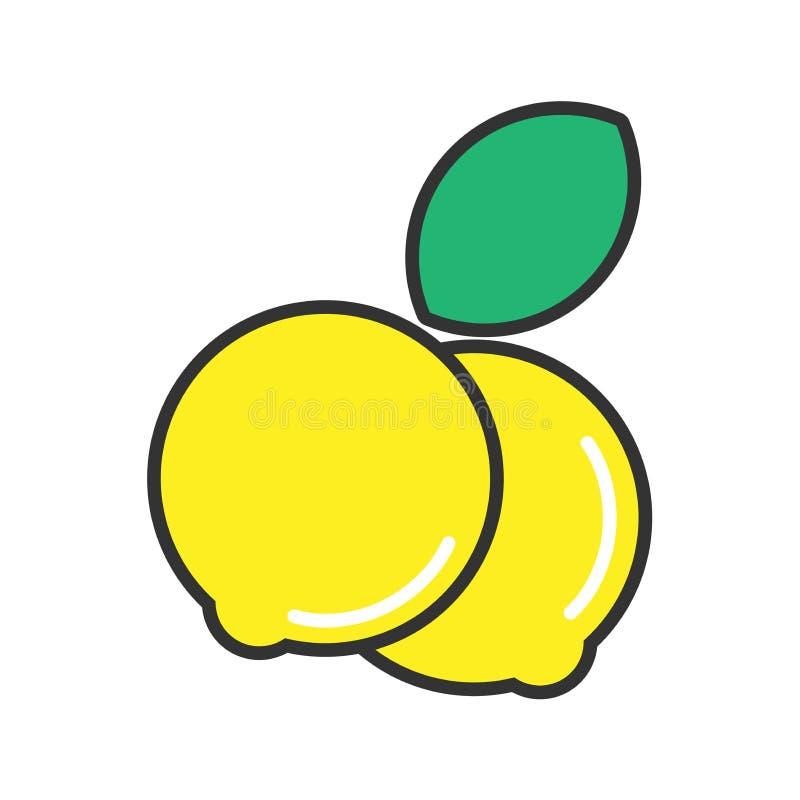 Дизайн значка лимонов иллюстрация вектора