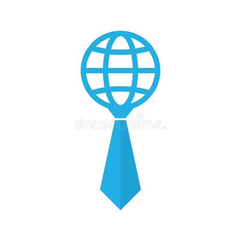 Дизайн значка логотипа работы глобуса иллюстрация вектора
